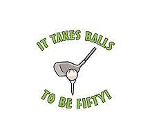 50th Birthday Golf Humor Photographic Print