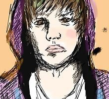 Justin Bieber digital sketch  by rainboze