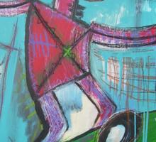 untitled (skater) Sticker