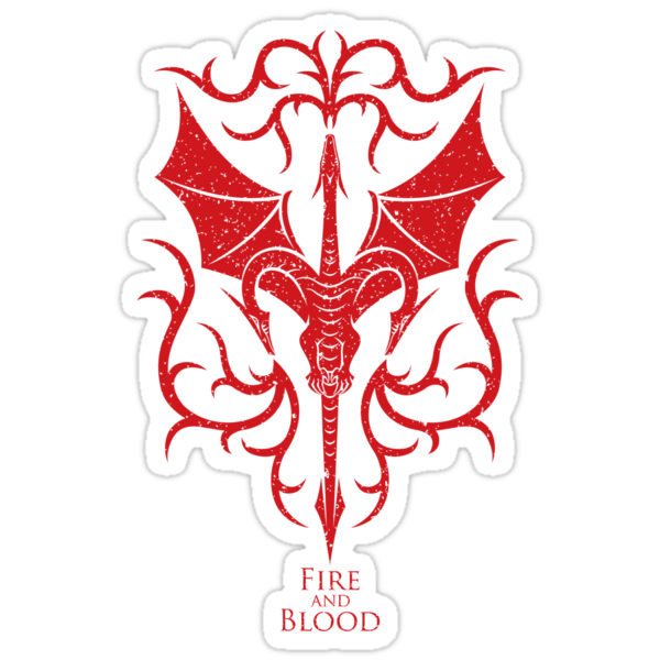 Targaryen Crest & Words - Distressed by HankTheTurtle