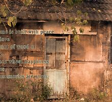 Old Wooden Shack with Poem by fotogenicdesign
