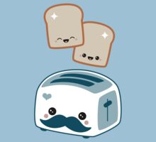 Cute Mustache Toaster by sugarhai