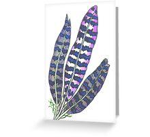 Glow Feather 3 Greeting Card