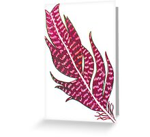 Grace Feather 2 Greeting Card