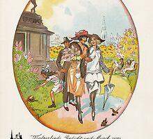 FRUHLING IM ALTEN WIEN (vintage illustration) by ART INSPIRED BY MUSIC