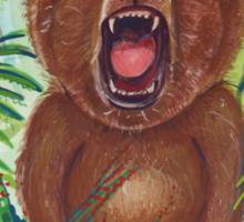 Roaring Teddy Sticker