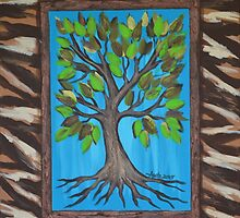 Tree of Life with a Faux Frame by Agata Lindquist