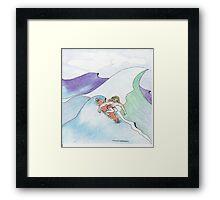The Surfer Dude Framed Print