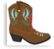 Cowboy Boots Short Canvas Print