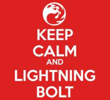 Keep Calm and Lightning Bolt by Ben Vagnozzi