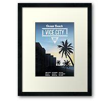 Vice City - Ocean Beach  Framed Print