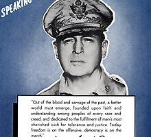 General MacArthur -- Speaking For America by warishellstore