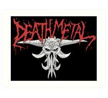 Death Metal Demonic-Skull Art Print