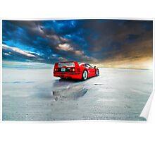 Ferrari F40   Sunrise Poster