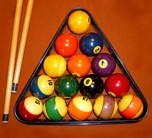 Billiard Balls by WildestArt