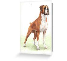 Boxer Dog Portrait Greeting Card