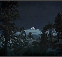 """""""Full moon coming over the ridge """" by CanyonWind"""