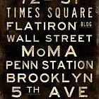 "New York ""Lexington"" V1 Distressed subway sign art by Subwaysign"
