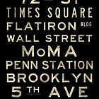 "New York ""Lexington"" V4 Distressed subway sign art by Subwaysign"