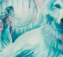 Wolf Dreaming Sticker