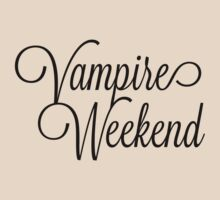 Vampire Weekend Cursive on Light by Montia Garcia