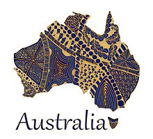 Tangled Australia Map by Quidama