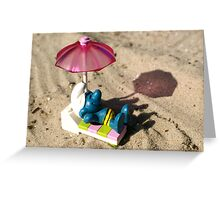 Suntanning smurf Greeting Card