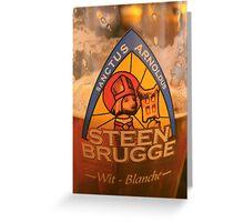 belgium beer Greeting Card