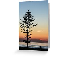 Standing Alone At Sunset Greeting Card