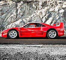 Ferrari F40 | Earth Scraper by Gil Folk