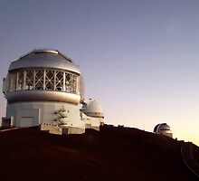 Sunset at the Observatory on Mauna Kea Summit in Hawaii by Amy McDaniel