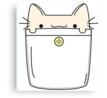 Pocket Cat Canvas Print