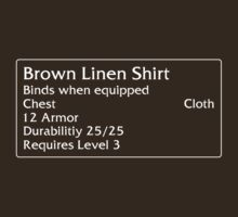 Brown Linen Shirt by DPSmachine