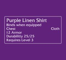 Purple Linen Shirt T-Shirt