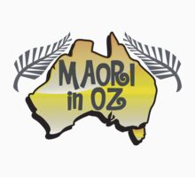 MAORI in OZ!  Kiwi New Zealander Australian Aussie map by jazzydevil