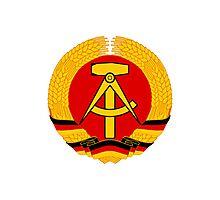 German Democratic Republic Emblem Photographic Print