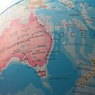 Australia's place on the globe by Matt Simner