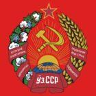 Socialist Uzbekistan Emblem by charlieshim