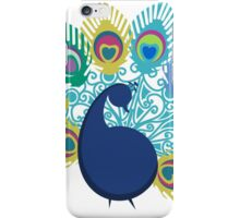 colorful modern peacock big feathers iPhone Case/Skin