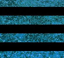 Stripes (Parallel Lines), Glitter - Blue Black by sitnica