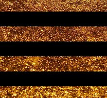 Stripes (Parallel Lines), Glitter - Gold Black by sitnica