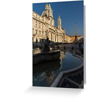 Shadow and Light - Piazza Navona in Rome Greeting Card