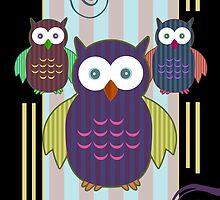 Striped Owls 2 by Adamzworld