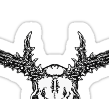 Monster mule deer skull Sticker