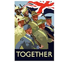 Together -- British Empire WWII Photographic Print
