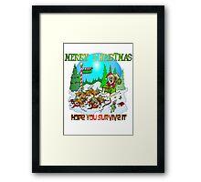 Zombie Santa is here Framed Print