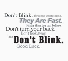 Don't Blink. by MuggleJoanne