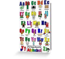 Alphabet poster Greeting Card
