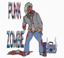 Punk Zombie by Skree