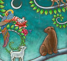 Tree of Life triptych - panel 1 by Eya Claire Floyd
